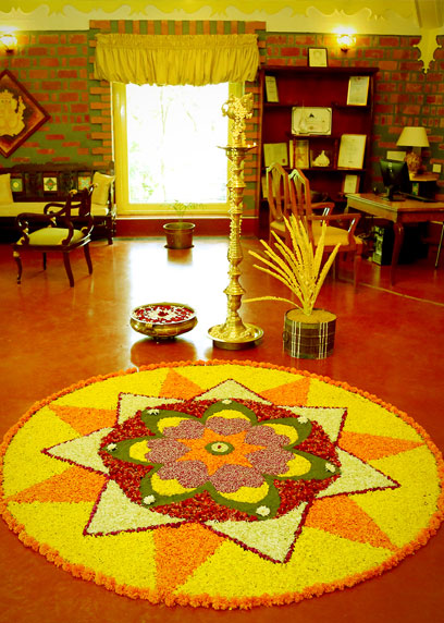 Welcoming all the guests at the reception area of the resort | Kairali-The Ayurvedic Healing Village