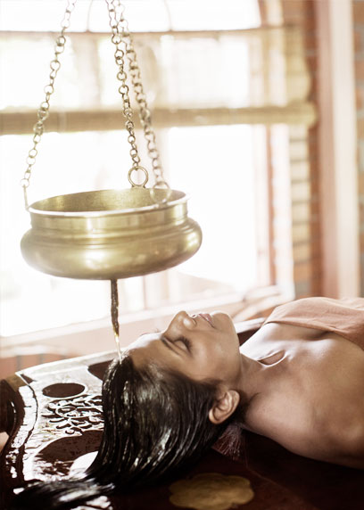 A scintillating head therapy by pouring of medicated liquids | Kairali-The Ayurvedic Healing Village