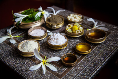 The various components used during an Ayurvedic treatment | Kairali-The Ayurvedic Healing Village