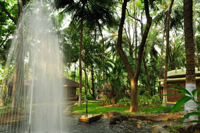 Viewing this fountain amidst the Healing Village is sheer joy | Kairali-The Ayurvedic Healing Village