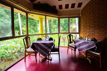 Completely hygienic and a scenic area to sit and have meals | Kairali-The Ayurvedic Healing Village
