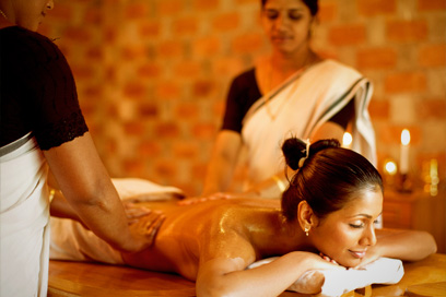 Ayurvedic treatments at the treatment room by professional Ayurveda therapists |Kairali-The Ayurvedic Healing Village