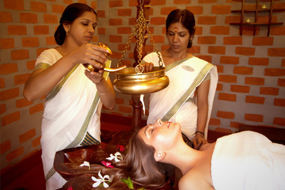 A complete relaxation therapy by using medicated oils on the head | Kairali-The Ayurvedic Healing Village