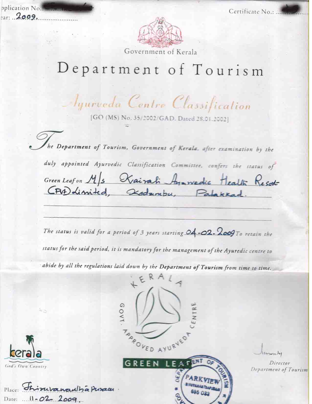 Kairali memberships affiliations accreditations ayurvedic kairali retreat has won many ayurvedic awards for its excellent service 1betcityfo Image collections